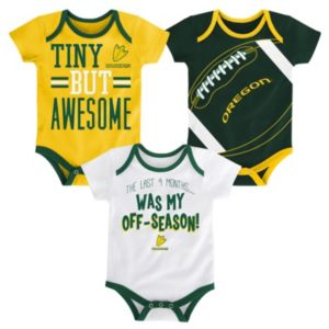 Baby Oregon Ducks 3-Piece Bodysuit Set