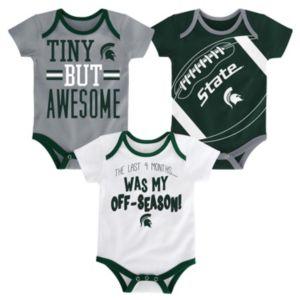 Baby Michigan State Spartans 3-Piece Bodysuit Set