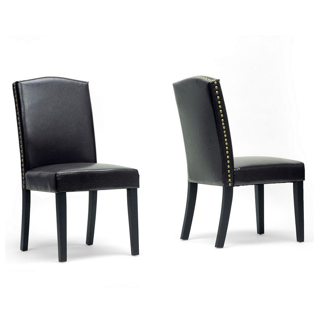 Baxton Studio Trullinger Modern Dining Chair 2-piece Set