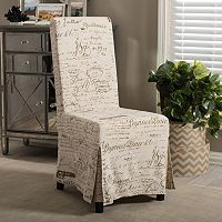 Baxton Studio Picard French Script Modern Dining Chair 2 pc Set