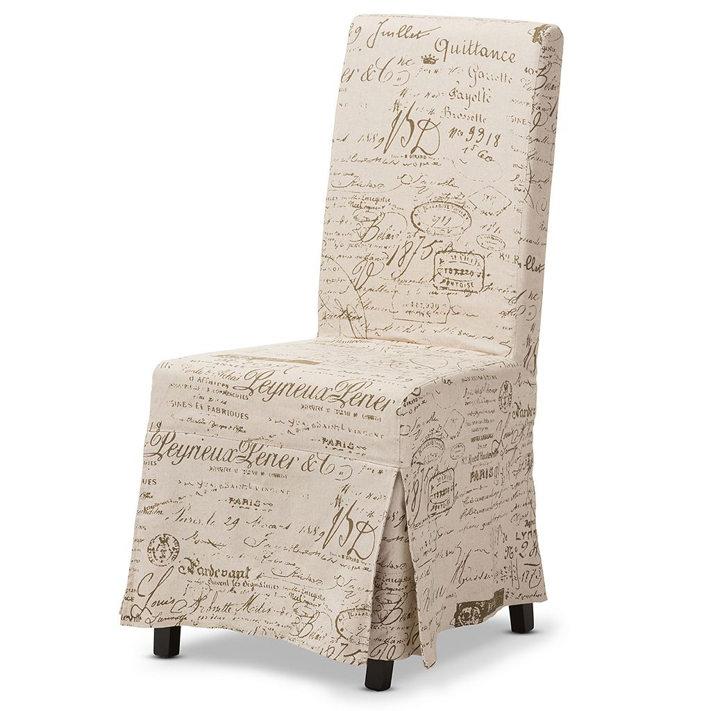 Baxton Studio Picard French Script Modern Dining Chair 2-piece Set