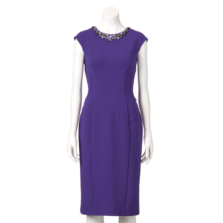 Womens Ronni Nicole Embellished Sheath Dress