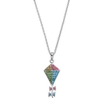 Silver Luxuries Silver Tone Kite Pendant Necklace