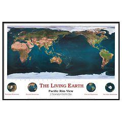 Art.com The Living Earth Pacific Rim View Framed Wall Art