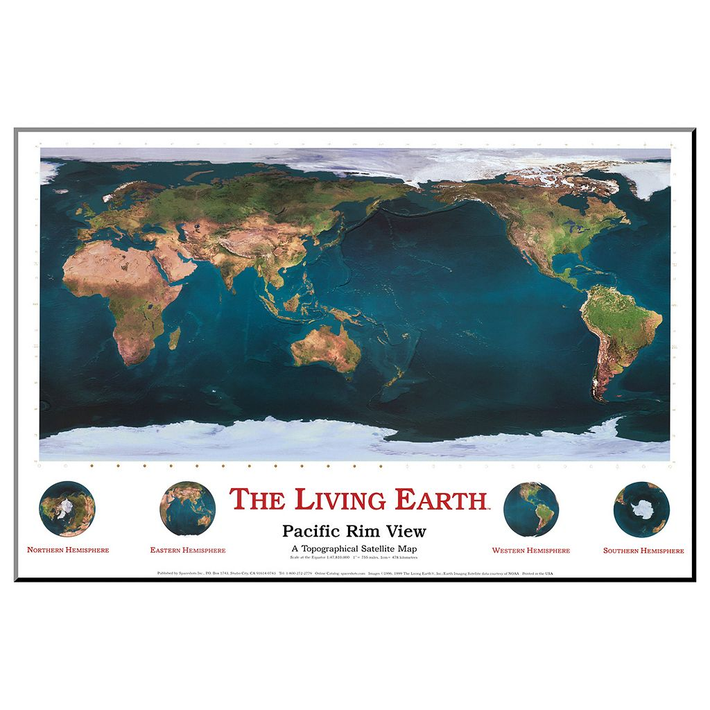 Art.com The Living Earth Pacific Rim View Wall Art