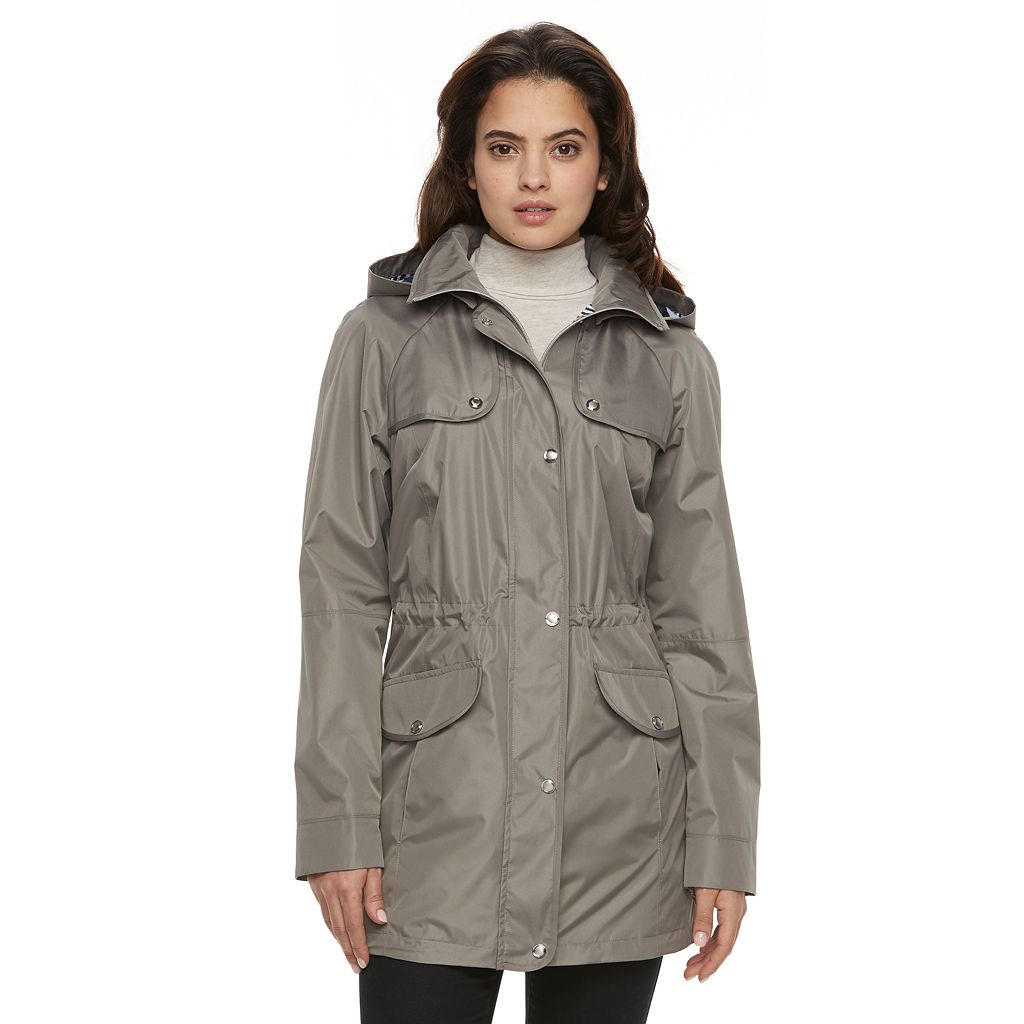 Women's Croft & Barrow® Hooded Drawstring Anorak Jacket