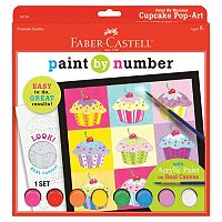 Faber-Castell Cupcake Pop-Art Paint By Number Kit