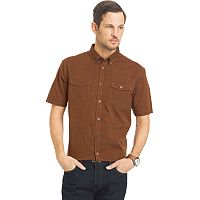 Big & Tall Van Heusen Solid Classic-Fit Poplin Button-Down Shirt