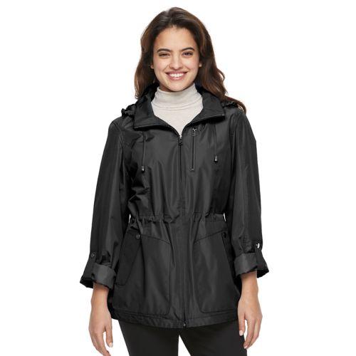 Women's Croft & Barrow® Hooded Roll-Tab Anorak Jacket