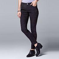 Women's Simply Vera Vera Wang Jacquard Skinny Pants