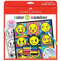 Faber-Castell Emoji Pop-Art Color By Number Kit