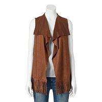 Apt. 9® Solid Fringe Vest