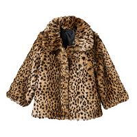 Toddler Girl OshKosh B'gosh® Faux-Fur Animal Print Jacket