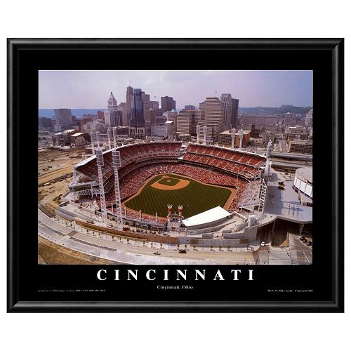 Art.com Cincinnati Ohio Baseball Framed Wall Art