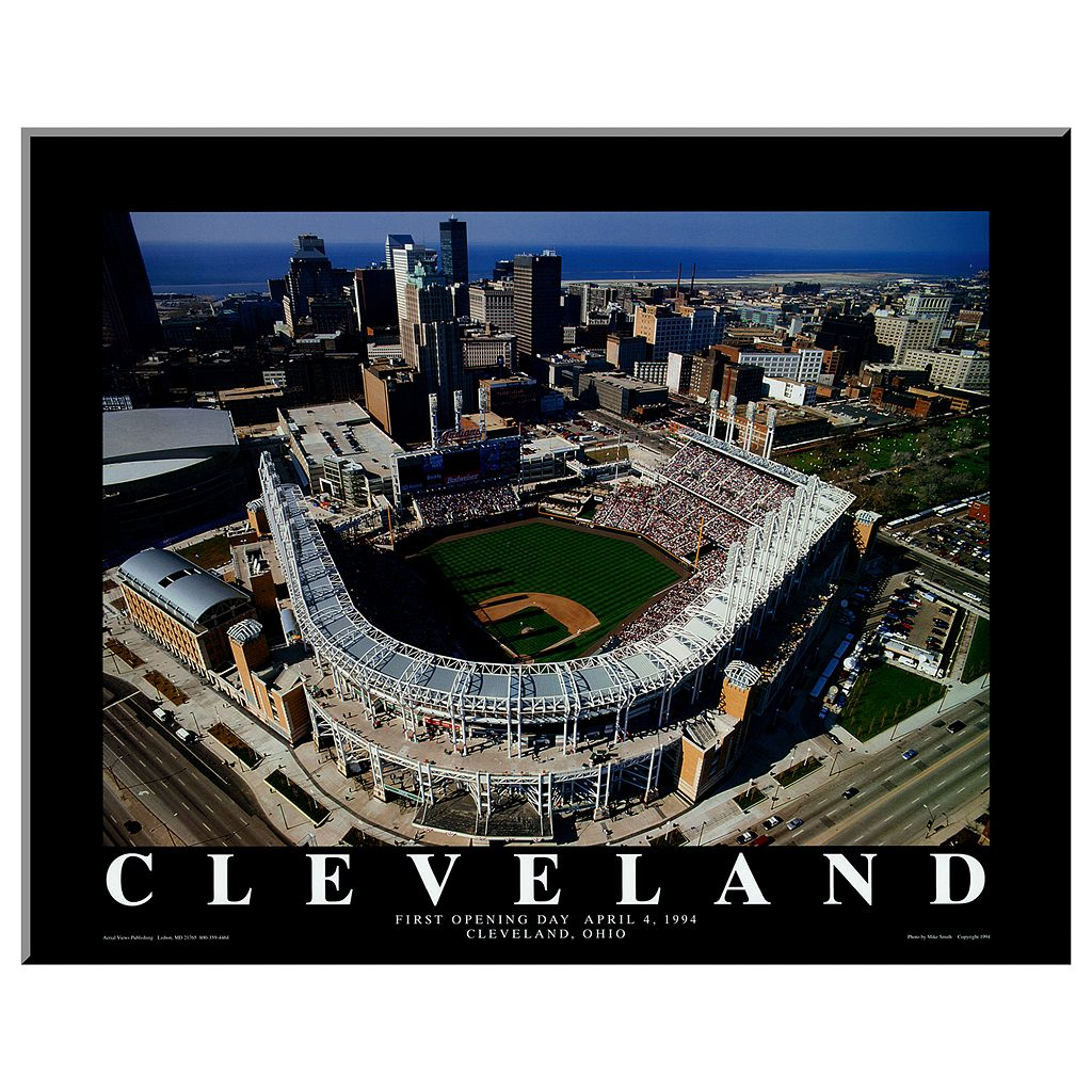 Art.com Cleveland First Game at Jacobs Field Wall Art