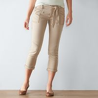 Women's SONOMA Goods for Life™ Tie Utility Capris