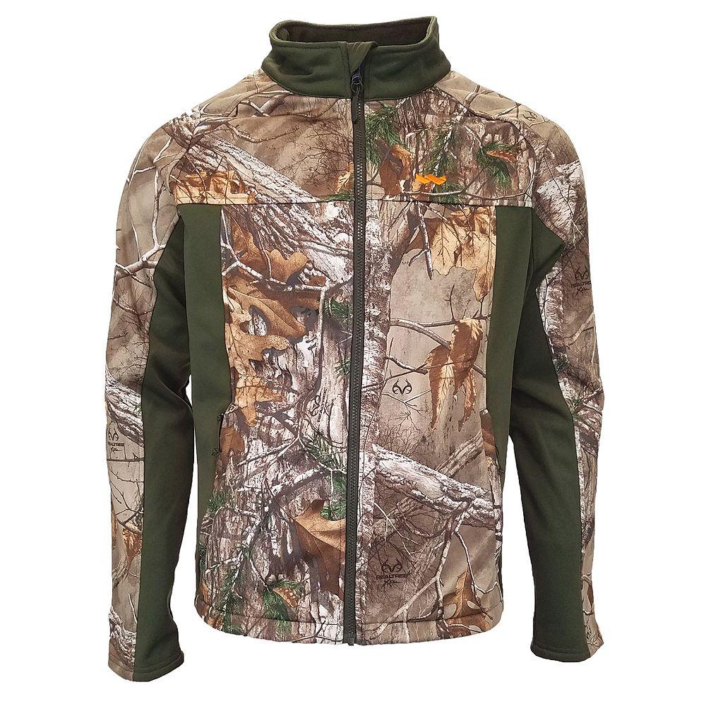 e3ad3ae419e25 Men's Walls Realtree Camo Softshell Windbreaker Jacket