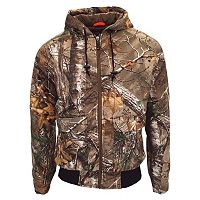 Men's Walls Camo Insulated Hooded Bomber Jacket