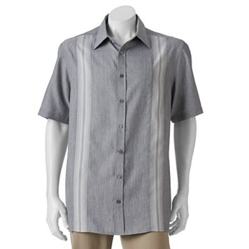 Big & Tall Haggar® Easy-Care Microfiber Button-Down Shirt