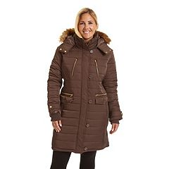 Plus Size Excelled Long Hoded Puffer Jacket