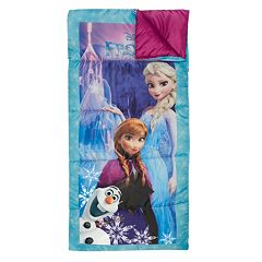 Disney's Frozen Elsa, Anna & Olaf 28' x 56' Sleeping Bag by Exxel Outdoors