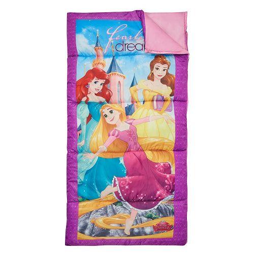 "Disney Princess Belle, Ariel & Rapunzel 28"" x 56"" Sleeping Bag by Exxel Outdoors"