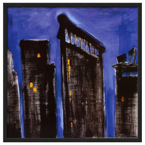 Art.com Blue Cityscape Framed Wall Art