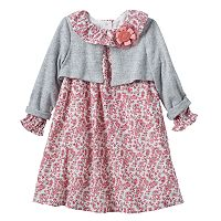 Baby Girl Marmaletta Classics Supersoft Shrug & Paisley Dress Set