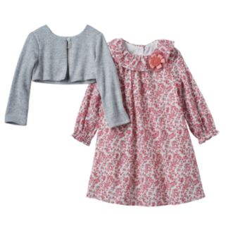 Baby Girl Marmaletta Classics Supersoft Shrug & Paisley Dress Set