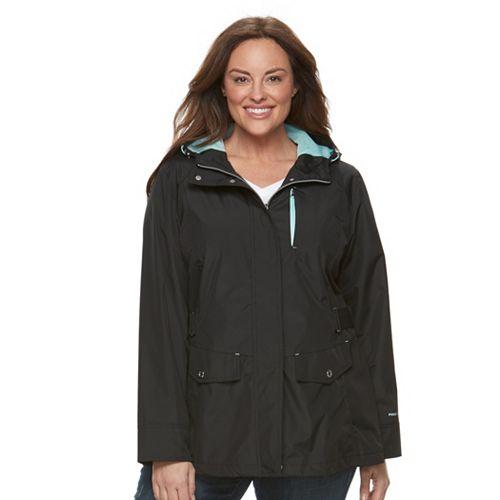 331ca97870e Plus Size Free Country Radiance Hooded Rain Jacket