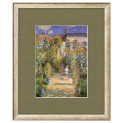 Art.com 'Garden at Vetheuil' Framed Wall Art by Claude Monet