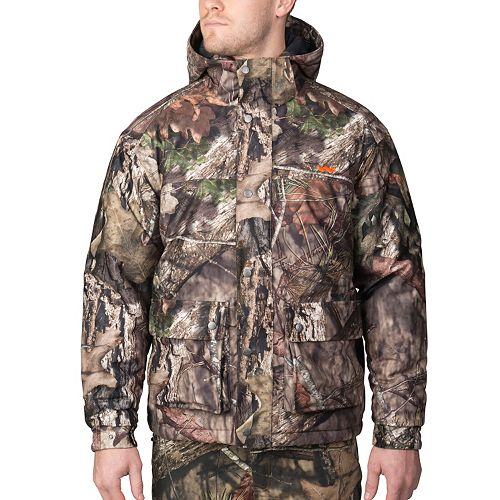 Men's Walls Mossy Oak Camo Hunt Hooded Insulated Anorak Jacket