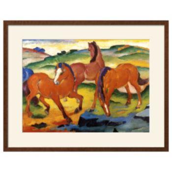 Art.com The Large Red Horses 1911 Framed Wall Art