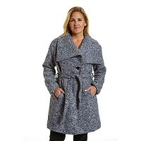 Plus Size Excelled Belted Boucle Jacket