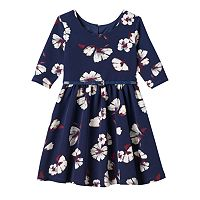 Girls 4-6x Marmellata Classics Floral Dress with Patent Belt