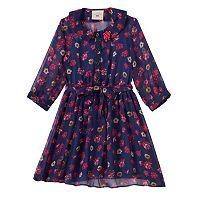 Girls 4-6x Marmellata Classics Floral Button-Front Shirtdress