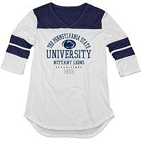 Juniors' Blue 84 Penn State Nittany Lions Arm Stripe Tee