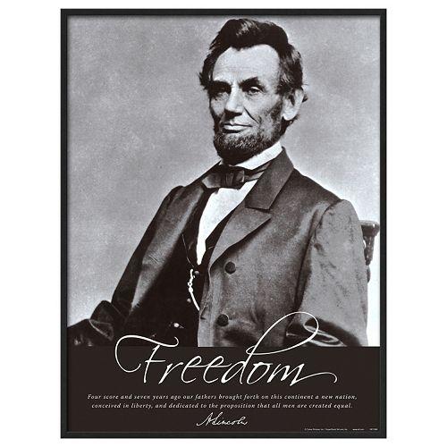 Art.com Freedom: Abraham Lincoln Framed Wall Art