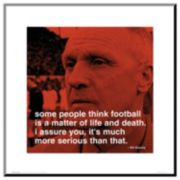 Art.com Bill Shankly Football Wood Wall Art