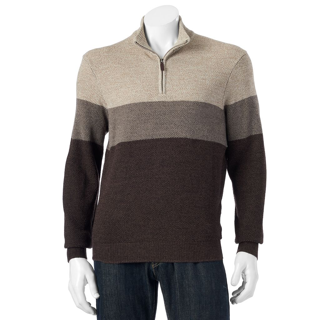 Men's Dockers Classic-Fit Colorblock Comfort Touch Quarter-Zip Sweater