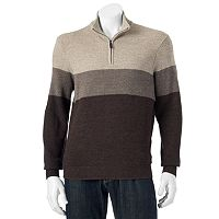 Men's Dockers Classic-Fit Colorblock Comfort Touch Quarter-Zip Sweater