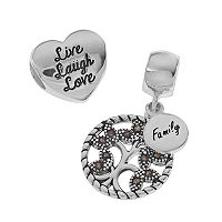 Individuality Beads Sterling Silver Marcasite Family Tree Charm &