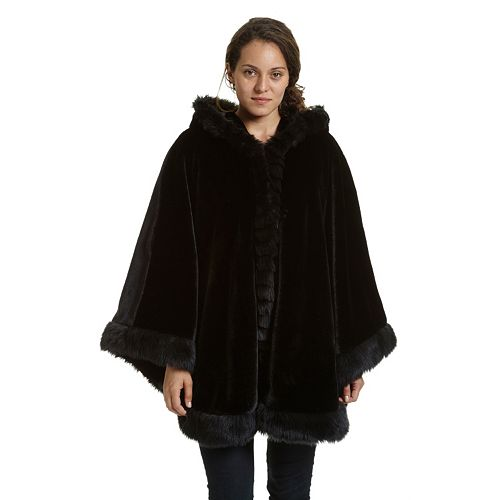 Women S Excelled Hooded Cape Coat