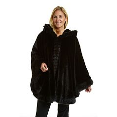 Plus Size Excelled Hooded Cape Coat
