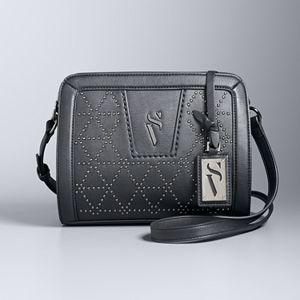 Simply Vera Vera Wang Midnight Studded Crossbody Bag