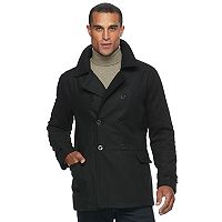 Men's Urban Republic Slim-Fit Double-Breasted Wool-Blend Peacoat