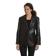 Women's Excelled Quilted Leather Blazer