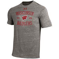 Men's Under Armour Wisconsin Badgers Triblend Tee