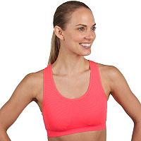 Jockey Sports Bra: Optic Geo Jacquard Seamless Medium-Impact 8970