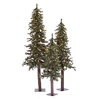 Vickerman Alpine Artificial Christmas Tree 3-piece Set